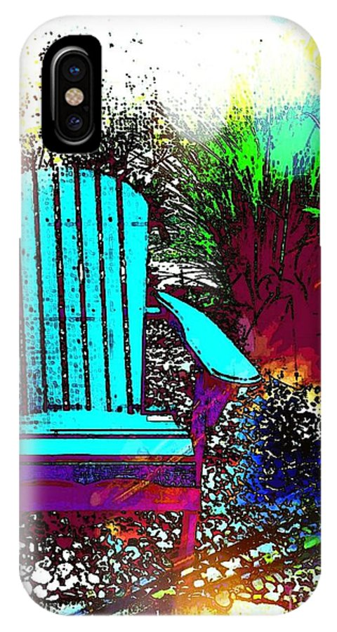 Chair IPhone X Case featuring the mixed media Solitude by Michelle Stradford