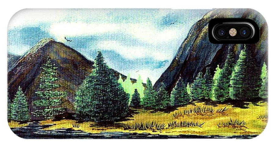 Fine Art IPhone X Case featuring the painting Solitude by Patricia Griffin Brett