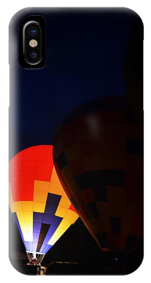 Hot Air Balloon IPhone X Case featuring the photograph Solo by Heather Reichel