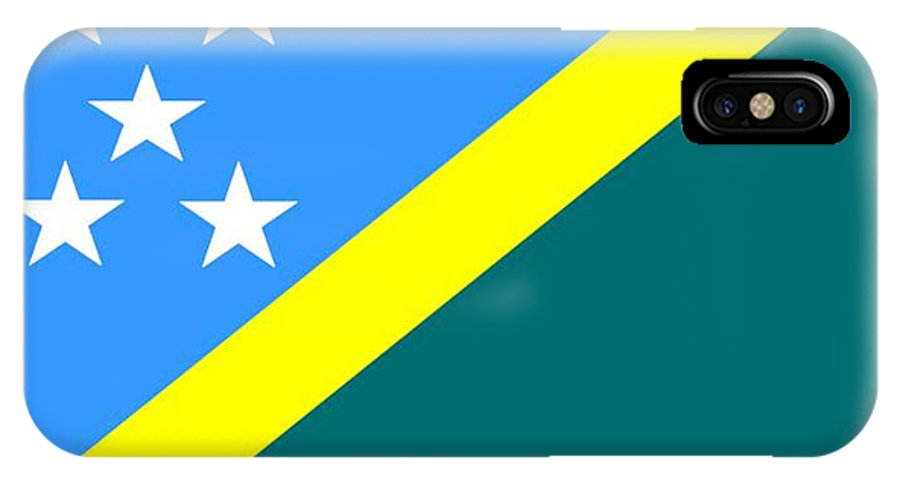 Solomon Island IPhone X Case featuring the digital art Solomon Island Flag by Frederick Holiday