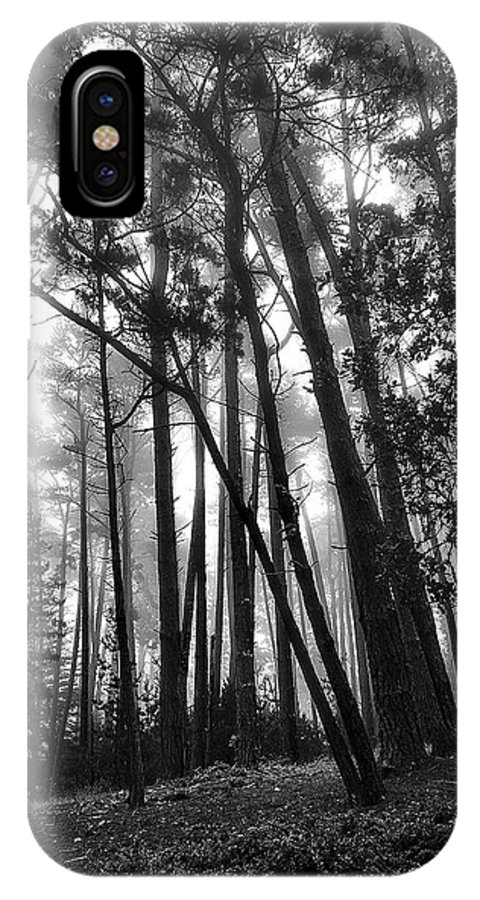 Landscape IPhone X Case featuring the photograph Somber Morning by Maria Coulson