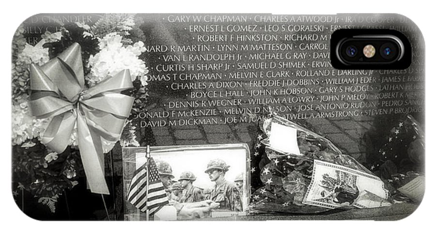 Vietnam Veterans Memorial IPhone X Case featuring the photograph Some Gave All by Sennie Pierson