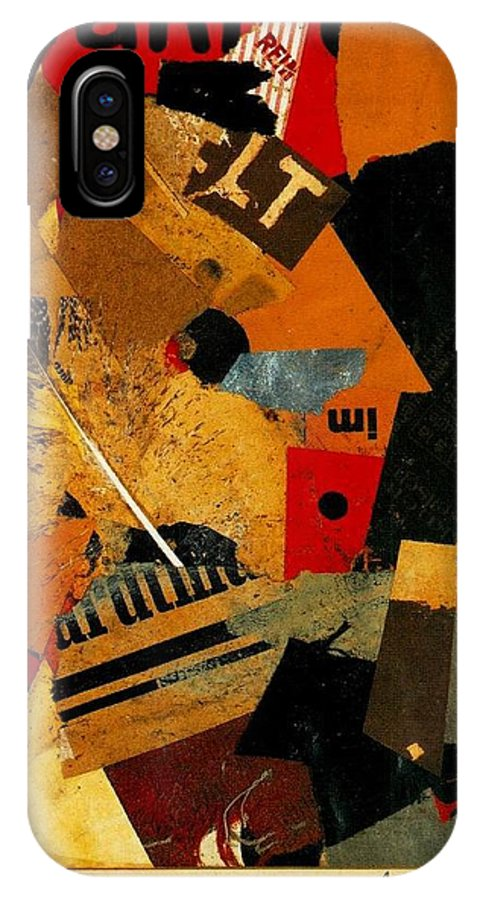 Kurt IPhone X Case featuring the mixed media Something Or Other 1922 by Kurt Schwitters