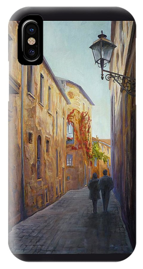 Urban IPhone X Case featuring the painting Somewhere In Time by Sharon Weaver
