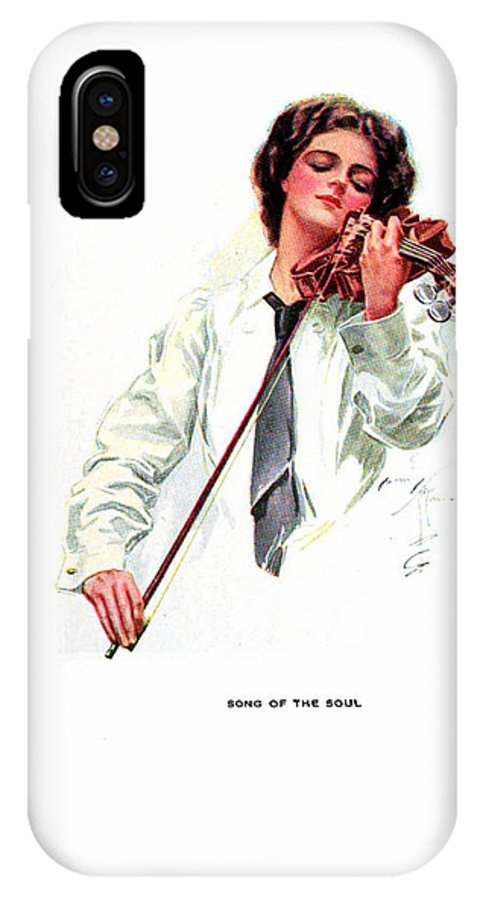 American Girls IPhone X Case featuring the painting Song Of The Soul by Harrison Fisher