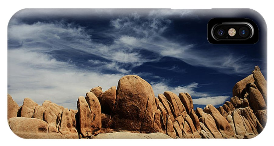 Joshua Tree National Park IPhone X Case featuring the photograph Songs Of Misery by Laurie Search