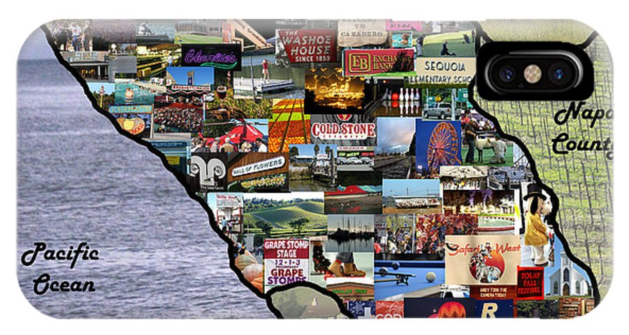 Sonoma County IPhone X Case featuring the photograph Sonoma County Collage by Pauline Darrow