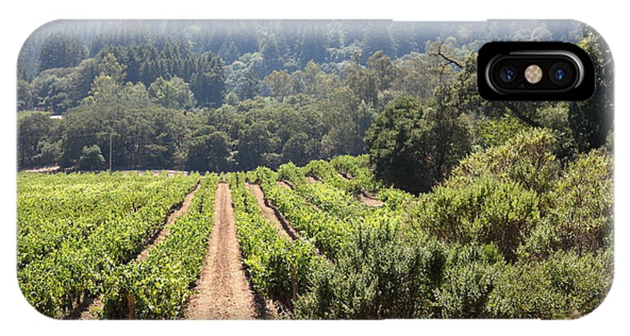 Vineyard IPhone X Case featuring the photograph Sonoma Vineyards In The Sonoma California Wine Country 5d24518 by Wingsdomain Art and Photography