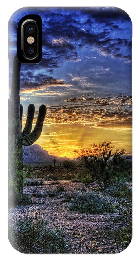 Sonoran Desert IPhone X Case featuring the photograph Sonoran Sunrise by Saija Lehtonen
