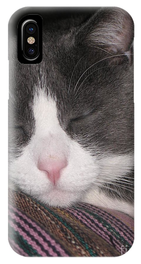 Photography IPhone X Case featuring the photograph Sound Asleep by Chrisann Ellis