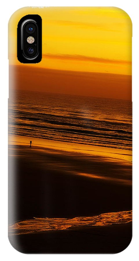 Card IPhone X Case featuring the photograph Sound Of Silence by Mark Baker