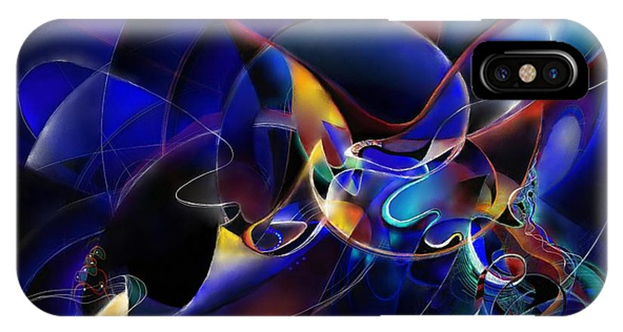 Digital Painting IPhone X Case featuring the painting Soundshape One by Wolfgang Schweizer