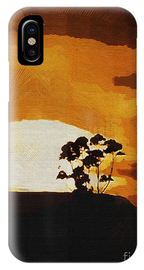 Clouds IPhone X Case featuring the painting South African Sky by RC DeWinter