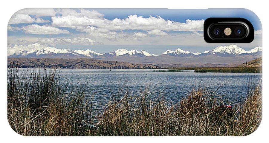 Aymara IPhone X Case featuring the photograph South America, Bolivia, Lake Titicaca by Kymri Wilt