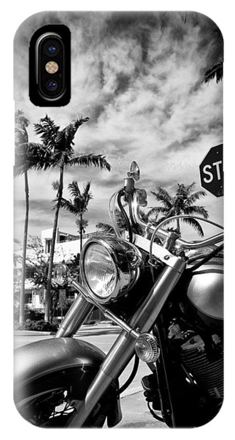Bike IPhone X Case featuring the photograph South Beach Cruiser by Dave Bowman