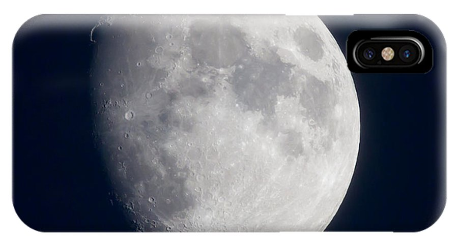 Moon IPhone X Case featuring the photograph South Dakota Moon by Dan Alfson