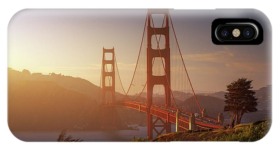 Usa IPhone X Case featuring the photograph South Golden Gate. by Juan Pablo De