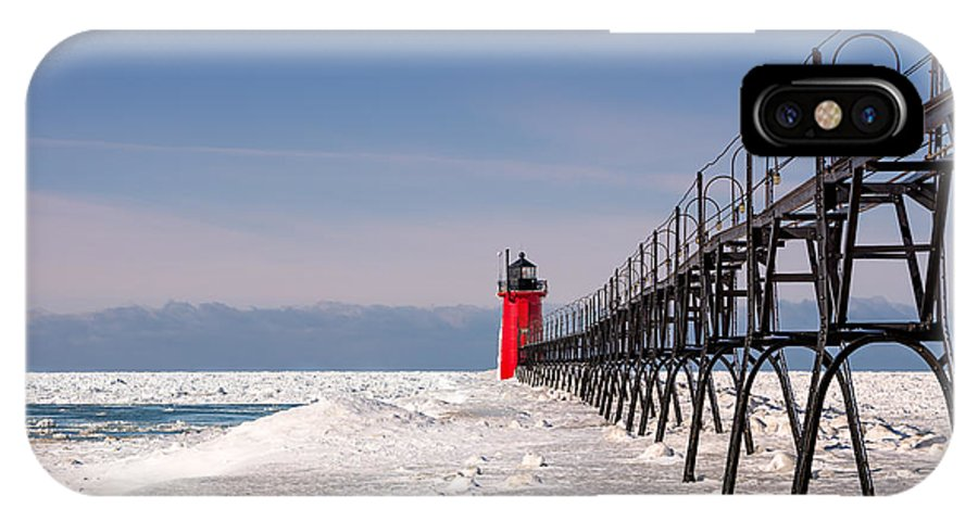 Michigan IPhone X Case featuring the photograph South Haven Lighthouse by Brett Perucco
