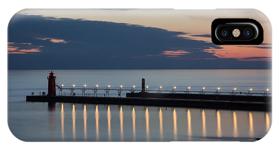 3scape Photos IPhone X Case featuring the photograph South Haven Michigan Lighthouse by Adam Romanowicz