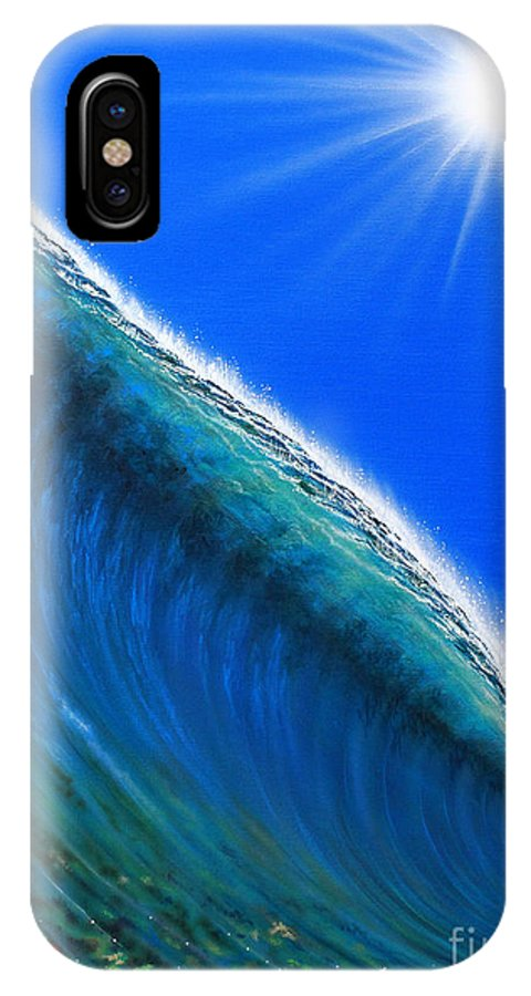 Pacific Ocean IPhone X Case featuring the painting South Pacific Gem by Marty Calabrese