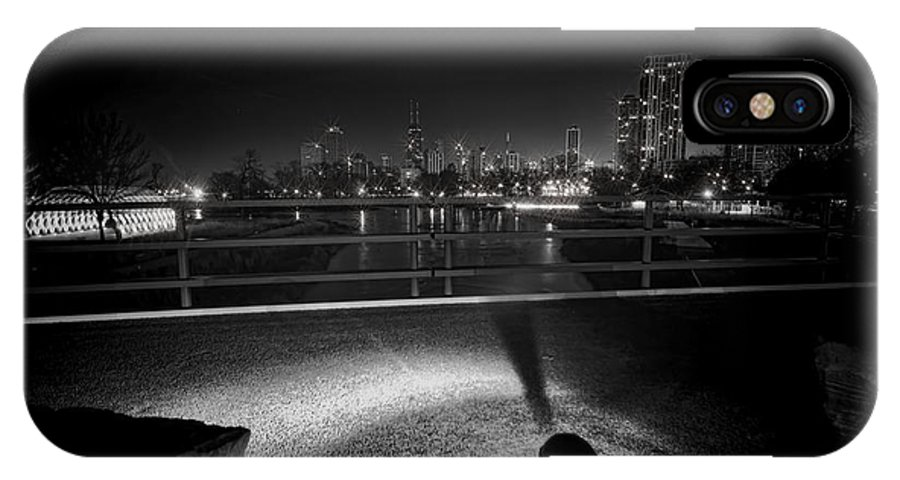 South Pond IPhone X Case featuring the photograph South Pond With Chicago Skyline by Sven Brogren