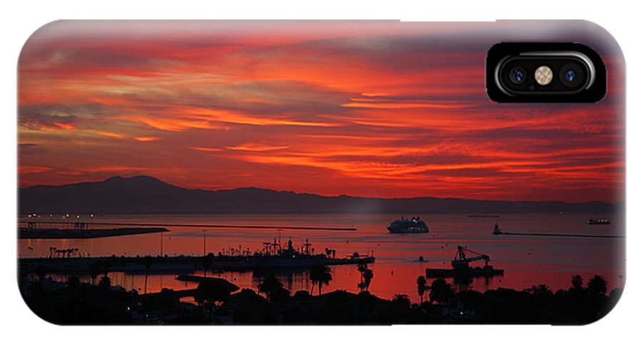 Landscapes IPhone X Case featuring the photograph Southern California Sunrise by Steve Wolfe