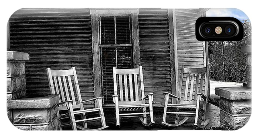 Southern IPhone X Case featuring the photograph Southern Front Porch 1 by Sherry Bowen