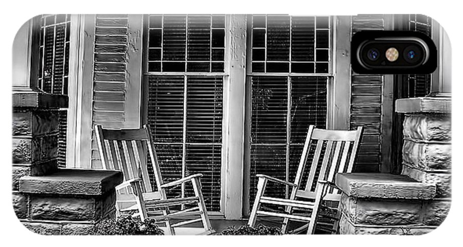 Southern IPhone X Case featuring the photograph Southern Front Porch 2 by Sherry Bowen