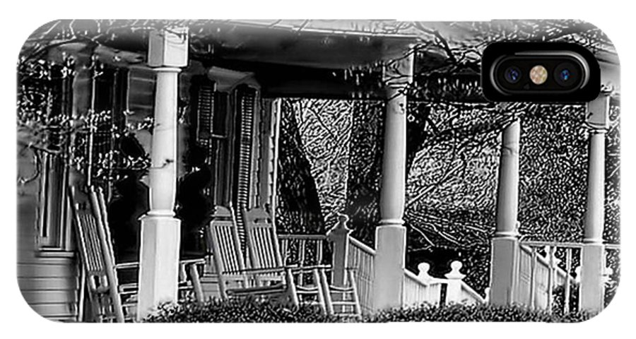 Porch IPhone X Case featuring the photograph Southern Front Porch 4 by Sherry Bowen