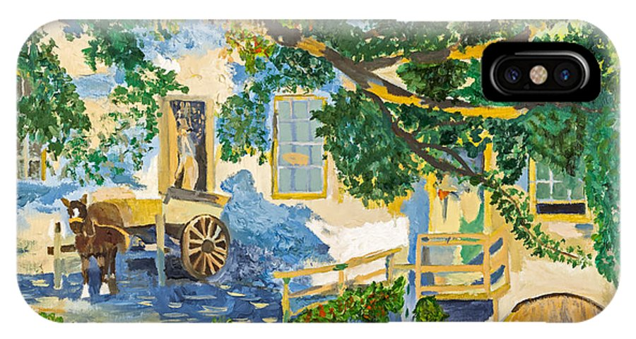 South IPhone X Case featuring the painting Southern Life By Stan Bialick by Sheldon Kralstein