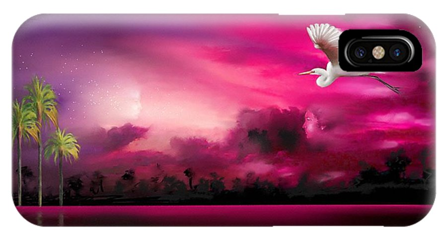 Eeriness IPhone X Case featuring the painting Southern Magic by S G