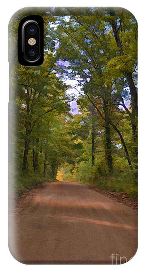 Road IPhone X Case featuring the photograph Southern Missouri Country Road II by Debbie Portwood
