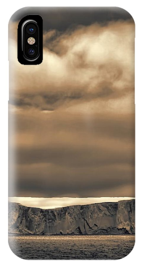 Icebergs IPhone X Case featuring the photograph Southern Ocean In Black And White by Amanda Stadther