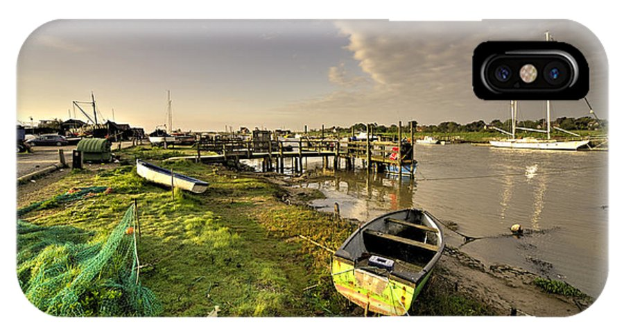Southwold IPhone X Case featuring the photograph Southwold Harbour by Rob Hawkins