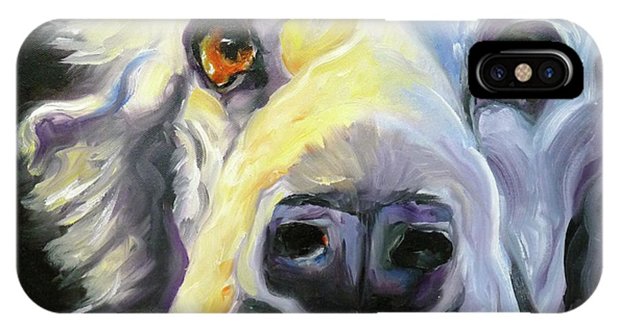 Dogs IPhone Case featuring the painting Spaniel In Thought by Susan A Becker