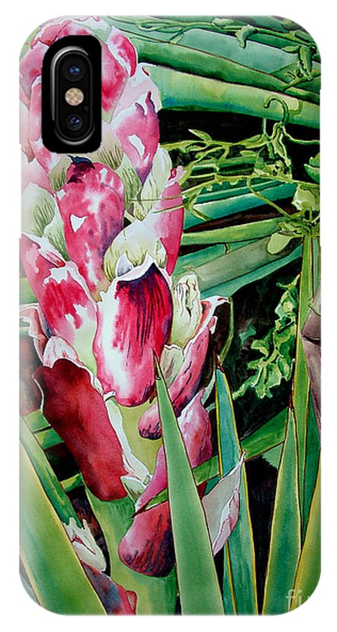 Floral Painting IPhone Case featuring the painting Spanish Dagger IIi by Kandyce Waltensperger
