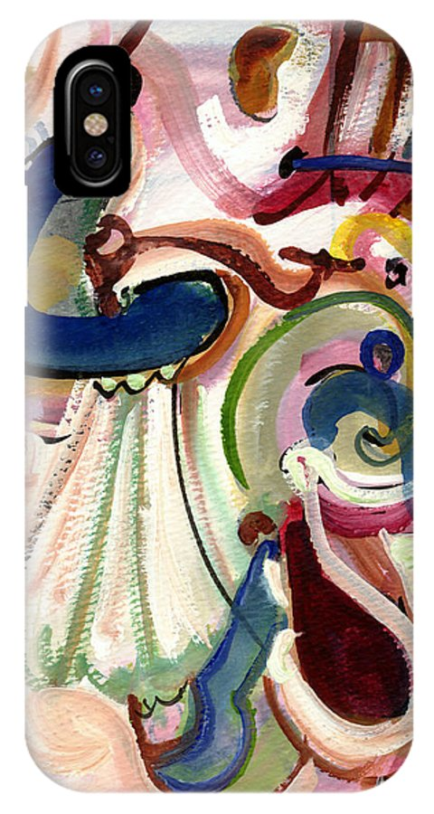 Abstract Art IPhone X Case featuring the painting Spanish Rose by Stephen Lucas