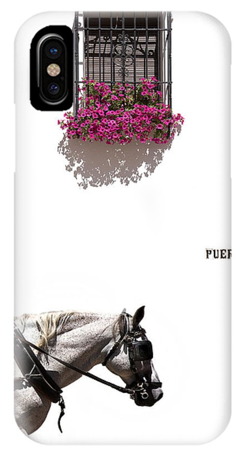 Spain IPhone X Case featuring the photograph Spanish Scene by Mal Bray