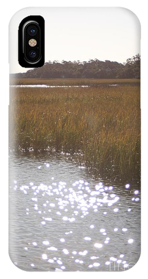Marsh IPhone Case featuring the photograph Sparkling Marsh by Nadine Rippelmeyer