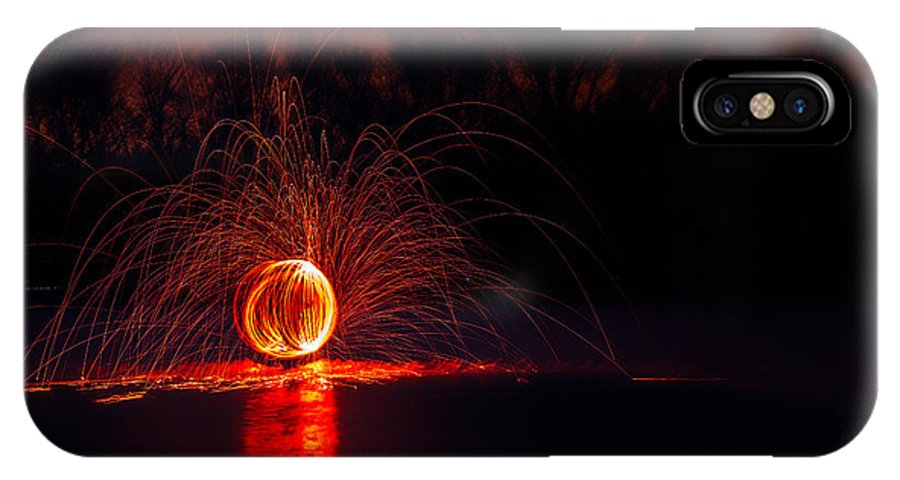 Sparks IPhone X Case featuring the photograph Sparky by Todd Bielby