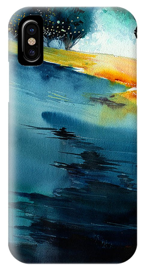 Nature IPhone X Case featuring the painting Spatial 1 by Anil Nene