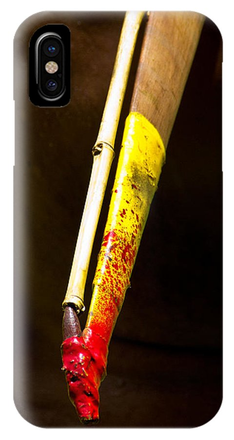 Woomera IPhone X Case featuring the photograph Spear Thrower Woomera by Debbie Cundy