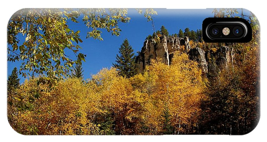Spearfish IPhone X Case featuring the photograph Spearfish Canyon In Autumn Color by Dakota Light Photography By Dakota