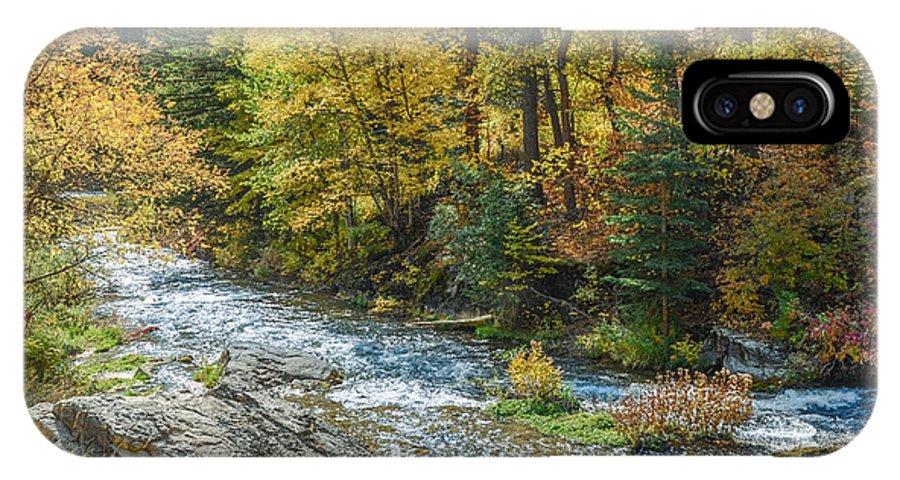 Dakota IPhone X Case featuring the photograph Spearfish Creek Autumn by Dakota Light Photography By Dakota