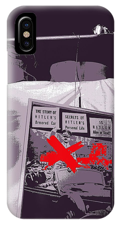 Spectators Circus Tent Auction Adolf Hitler's 1941 Mercedes Scottsdale Arizona 1973-2009 Color Toning Added Greta Garbo Deusenberg Auto IPhone X / XS Case featuring the photograph Spectators Circus Tent Auction Adolf Hitler's 1941 Mercedes Scottsdale Arizona 1973-2009 by David Lee Guss