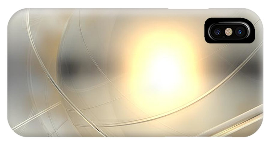 Abstract IPhone X Case featuring the digital art Spheres, No. 6 by James Kramer