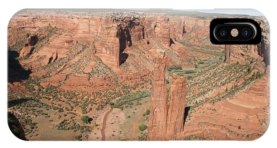 Spider Rock IPhone X Case featuring the photograph Spider Rock Canyon De Chelly by Christiane Schulze Art And Photography