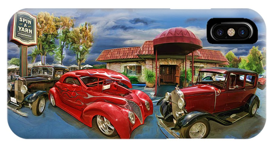 Car IPhone X Case featuring the photograph Spin A Yarn Car Show by Blake Richards