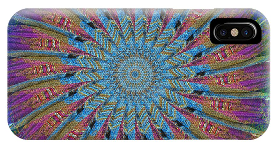 Kaleidoscope IPhone X Case featuring the photograph Spin To Blur by Barbara MacPhail