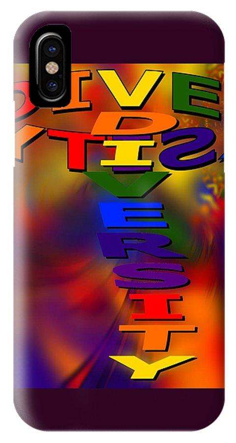 Diversity IPhone X Case featuring the digital art Spinning Diversity by Pharris Art